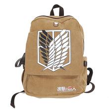 Brand Boys Shingeki no Kyojin Attack on Titan Japanese Cosplay Canvas Backpack Schoolbag Shoulder Bag Knapsack