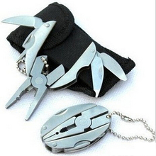 Free Shipping! 2014 New Multi Function Folding Pocket Tools Plier Knife Screwdriver Keychain + Case Set