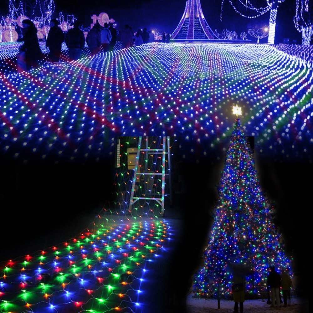3M *2 M waterproof LED Net Mesh Fairy String Lights ice bar lamp for Indoor Outdoor Twinkle Home ...