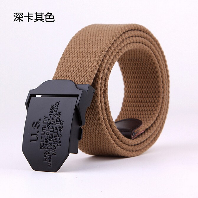Hot 2015 Cintos Men's Belts 120CM Military Canvas Belt for men weave buckle outdoor sports jeans casual wild belt automatically