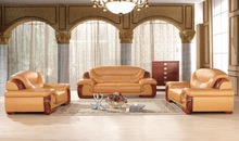 antique European chesterfield leather sofa set living room furniture made in China sectional sofa 1+2+4(China (Mainland))