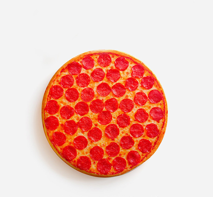 Free Shipping 1Piece Funny Pepperoni Pizza Junk Food Hipster Print Cool Pizza Throw Pillow Cuison(China (Mainland))