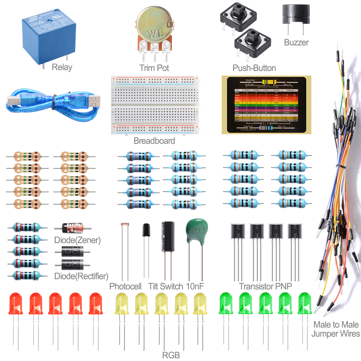 Basic Starter Kit Set Educator Breadboard Diode For Arduino F Raspberry Pi TE263(China (Mainland))