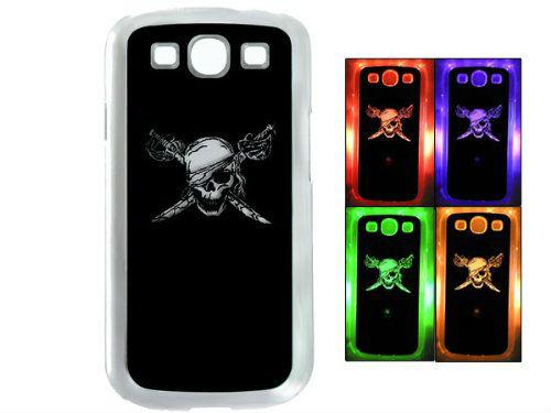 Skull Sense LED Flash Light Hard Case Cover Skin for Samsung Galaxy S3 i9300(China (Mainland))