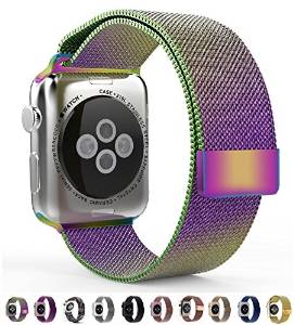 9 color choices Silver Black Milanese Loop band & Link Bracelet Stainless steel strap for apple watch 42mm 38mm Watchband(China (Mainland))