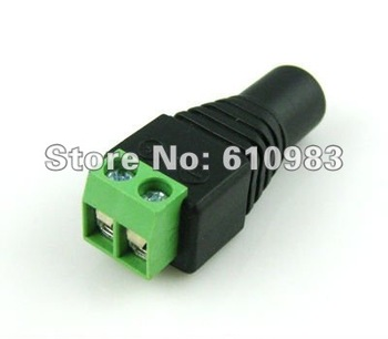 Free shipping 2.1mm CCTV DC Power female jack Connector Adapter