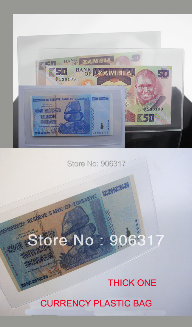 Item 8 Banknote sleeve bill/ currency paper money protect OPP bag 50pcs/pack--90*190mm(China (Mainland))