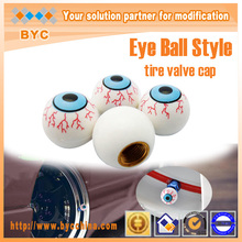 Car styling Christmas promotion Eye ball style Car Valve Cap , tire valve cap , EMS fast  Deliveried(China (Mainland))