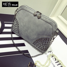 Hot!!!2015 New Arrival European and American Fashion Women's Shell Chain Small bags Leisure Messen0ger Shoulder Importer Handbag(China (Mainland))