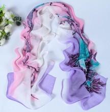 women scarf fashion pashmina 2014 new design long shawl cape Polyester chiffon tippet muffler Scarves PG-011(China (Mainland))