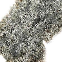 NFLC 2m (6.5 Ft) Christmas Tinsel Tree Decorations Tinsel Garland (silver)