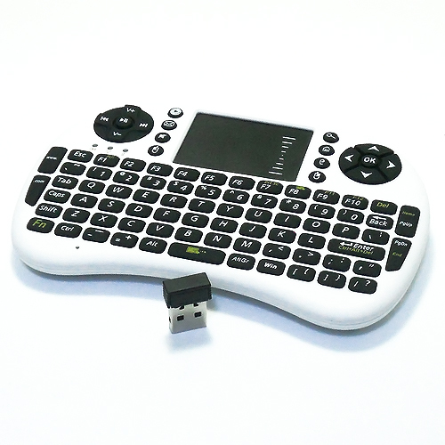 2.4G Mini Wireless QWERTY Keyboard Air Mouse Combo for PC Notebook Android Tv Box PS3 HTPC Wireless Keyboard Touchpad(China (Mainland))