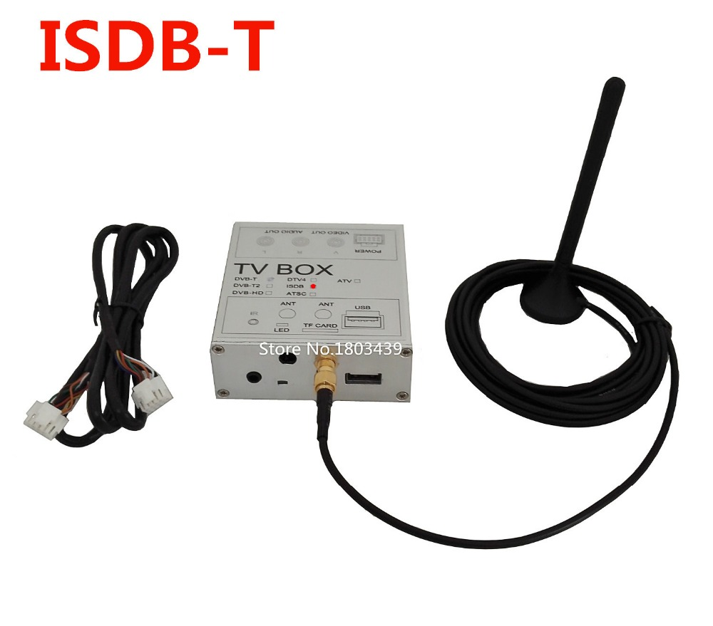 Car Digital TV Receiver Box ISDB-T For Brazil Japan Chile South America For Car DVD Player Radio Stereo GPS Navigation(China (Mainland))