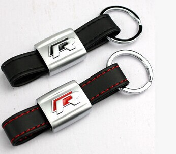 Auto Black leather sport R line for Golf R32 R36 MK6 MK5 keychain keyring red black<br><br>Aliexpress