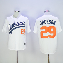 hot 2016 new Men's cheap 29 Bo Jackson Throwback Baseball Jerseys,Auburn University Jersey(China (Mainland))
