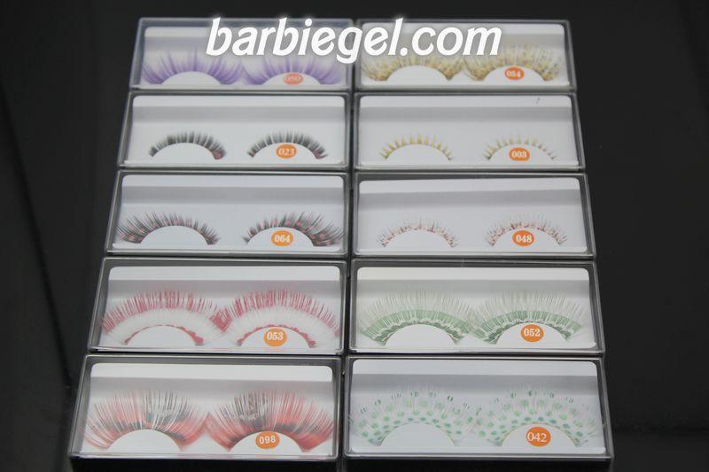 10 pairs/lot color mix fashion artical eyelashes masquerade exaggerated eyelashes feather eyelashes Fashion Party Makeup Tools(China (Mainland))