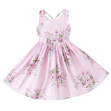 Buy 2017 new summer baby girls floral dress children kids cotton long vestidos dress graduation gowns children clothes free for $9.03 in AliExpress store