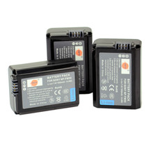 DSTE 3PCS NP-FW50 Rechargeable Battery For Sony NEX-7 NEX-5N NEX-F3 SLT-A37 A7 NEX-5R NEX-6 NEX-3 NEX-3A Alpha 7R II Camera