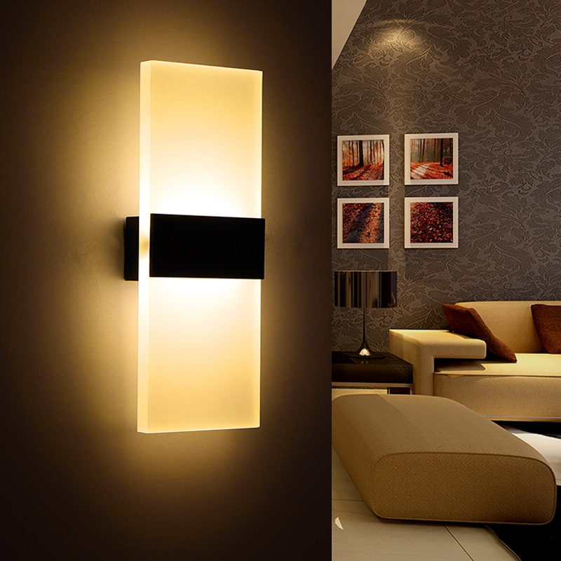 Wall Lamps For Living Room : Modern Led Wall Lamp Acryl Bed Room Wall light Living Sitting Room Foyer Bathroom Modern LED ...