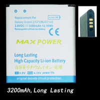 3200mAh new extended replacement high capacity  BATTERY for Samsung Galaxy Grand 2 G7102/G7106 free shipping
