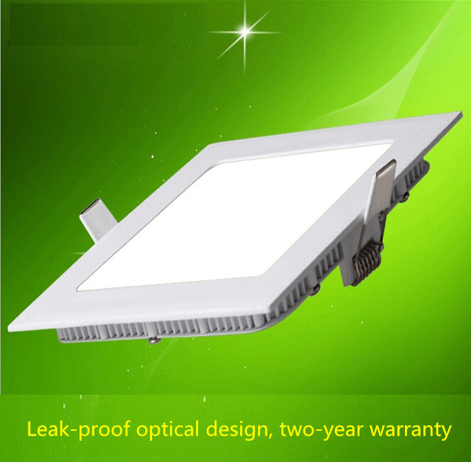 Best ultra-thin 3W/6W/9W/12W/15W/18W/24W LED downlight Square LED panel / pannel light bulb for bedroom luminaire(China (Mainland))
