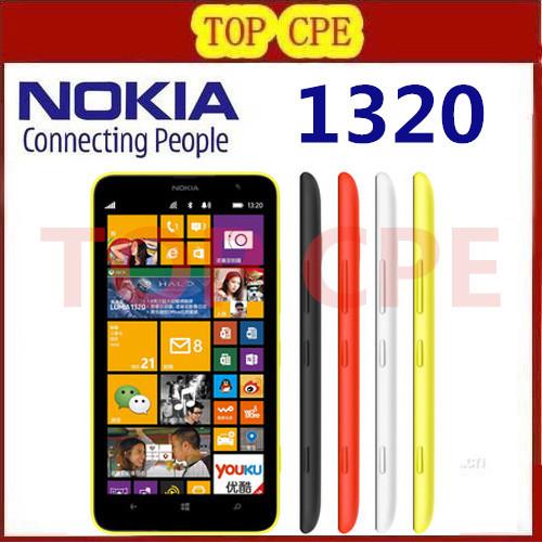 Nokia Lumia 1320 Original Unlocked cell phones Dual Core 6.0 inch Touch Screen 5MP Camera 3400mAh 8GB ROM 1GB RAM Free shipping(China (Mainland))