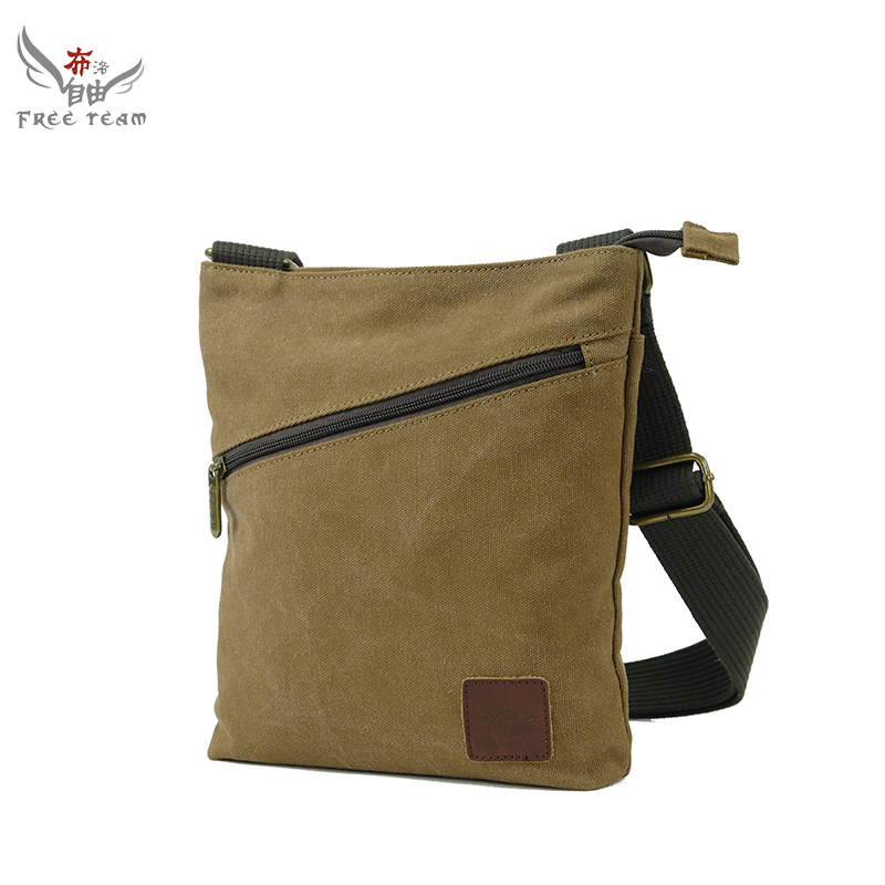 New 2016 Men'S Shoulder Bag Fashion High Quality Solid Soft Canvas Casual Shoulder Messenger Handbags Leisure Sports Bag FT3122(China (Mainland))