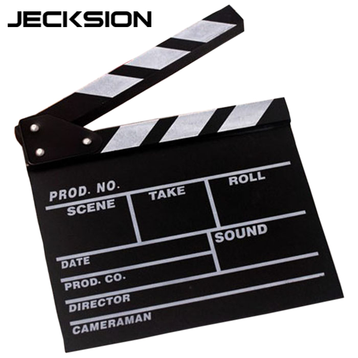JECKSION Director Video Scene Movie Clapper Board TV Movie Clapper Board Film Cut Prop(China (Mainland))