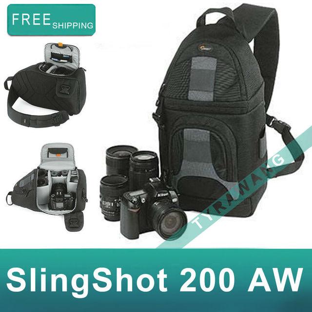 Freeship Lowepro SlingShot 200 AW Digital Photo Camera Bag SLR DSLR Travel Shoulder Bag Carry Bag with raincover for nikon canon