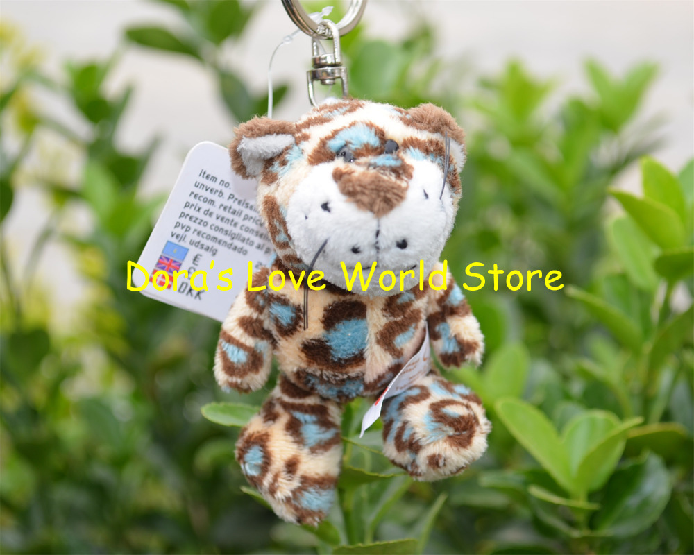 5 Pcs/lot Leopard Plush Pendant, Keychain / Keyring Plush Toy Gift Free Shipping(China (Mainland))