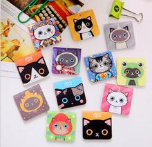 12pcs in 4 set Magnet bookmarks cats designs Make funny books marker Magnetic page holder materials School supplies(China (Mainland))