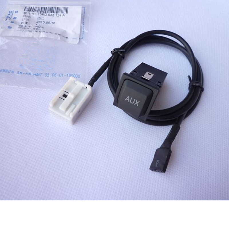 Car Aux Input Adapter Switch And Cable Wrie For Volkswagen