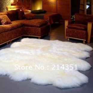 Здесь можно купить  6P Wool carpet , floor broad  mat , big fur skin rug for home decoration. Sheep pelt skin rug for furniture upholstery  Дом и Сад