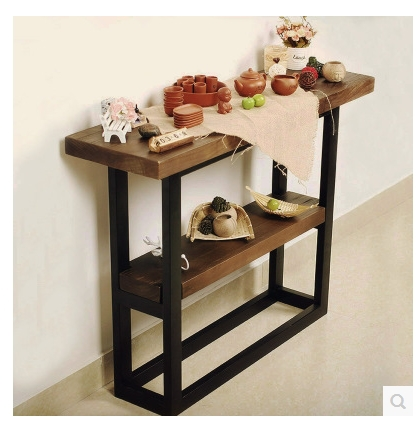 vintage table de console de bois tv meuble foyer bois entr e en fer forg station d 39 entr e. Black Bedroom Furniture Sets. Home Design Ideas
