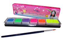 100% Safe Fluorescence Color Halloween Face Body Paint Oil Painting Art Cosmetic with Brush Make Up Set Tools Party(China (Mainland))