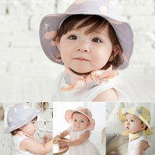 Toddler Infant Hats Sun Cap Polka Dot Summer Outdoor Baby Girl Hats Beach Bucket Sun Hat(China (Mainland))