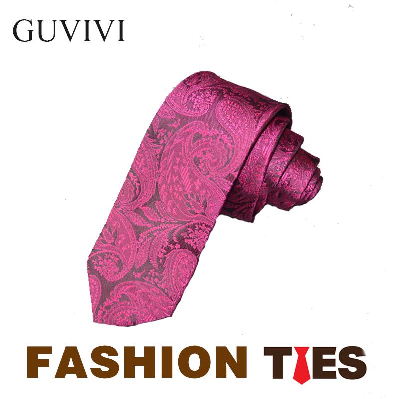 "GUVIVI 2016 NEW Original Designer Floral Check 2.17"" 100% Cotton Wedding Jacquard Slim Skinny Narrow Woven Men Tie Necktie(China (Mainland))"