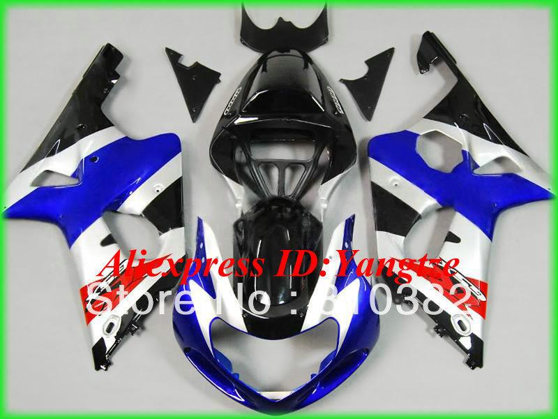 Cheap! Fairing kit for SUZUKI GSXR1000 00 01 02 GSXR 1000 GSX-R1000 K2 2000 2001 2002 silver blue blk Racing Fairings kit SQ28(China (Mainland))