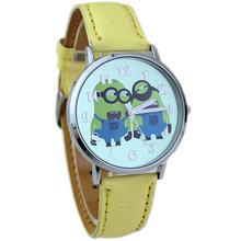 Nueva venta al por mayor estilo de diseño moda niños del cuarzo de dibujos animados Despicable Me reloj con caja de reloj W157710