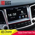 KUST ABS Decoration Display Screen Frame Trim Sticker For Hyundai For Tucson 2016 Navigation Frame Trim