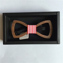 New Fashion Personality Dot Bow Tie Wooden Butterfly Neck Tie For Men Jewelry Accessories with black box