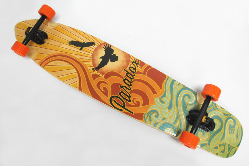 "Free Shipping 42"" Krown Complete KICK TAIL Mini Cruiser Sector 9 Rasta 9 ply Maple Skateboard Longboard(China (Mainland))"