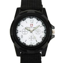 2015 New Brand Ge mius Military Quartz Army Watch Canvas Strap Fabric Watch Men Outdoor Sport
