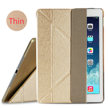 4 Shapes Ultra Thin Silk Smart Leather Cover Stand for iPad 5 6 Air 2 / Air 1 Translucent Case for iPad 5 6 Auto Wake/Sleep(China (Mainland))