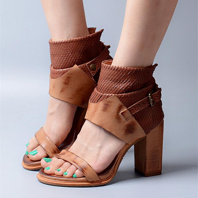 Retro Rome Style Women Platform Sandals Women Sexy Peep Toe Thick High Heels Dress Shoes Woman Soft Leather Summer Women Pumps(China (Mainland))