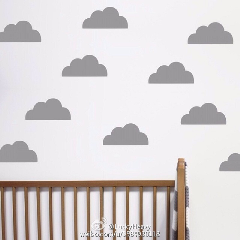 45pcs popular cute cloud pattern Wall Sticker Removable Waterproof No pollution material for Baby bedroom kids living room decal(China (Mainland))