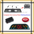 2015 Lastest Car Parking Sensor European license plate Parking Sensors System BIBI Sounder Alarm Security System
