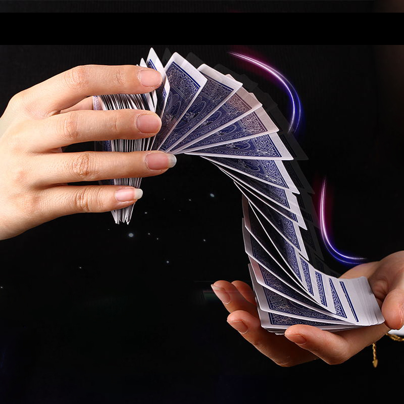 Magic Electric Deck of Cards (Red/ blue back ) Prank Trick Prop Gag Poker Acrobatics The Waterfall Card magic props 81102(China (Mainland))