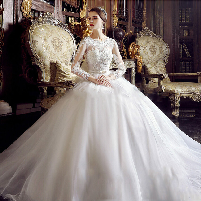 Online buy wholesale big ball gown wedding dresses from for A big wedding dress
