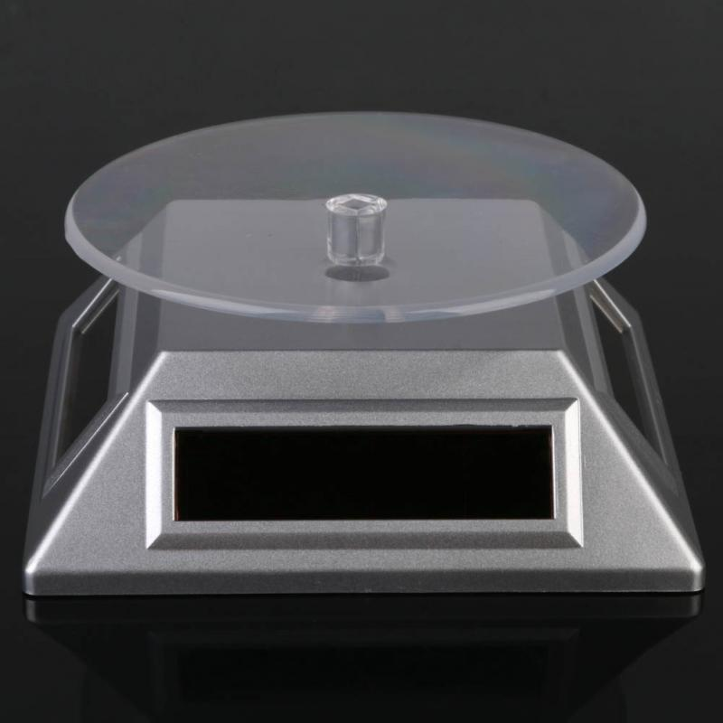 Stand Solar Auto Rotating Display Stand Rotary Turn Table Plate For mobile MP4 Watch jewelry VIP Store - Nov15 -h5(China (Mainland))